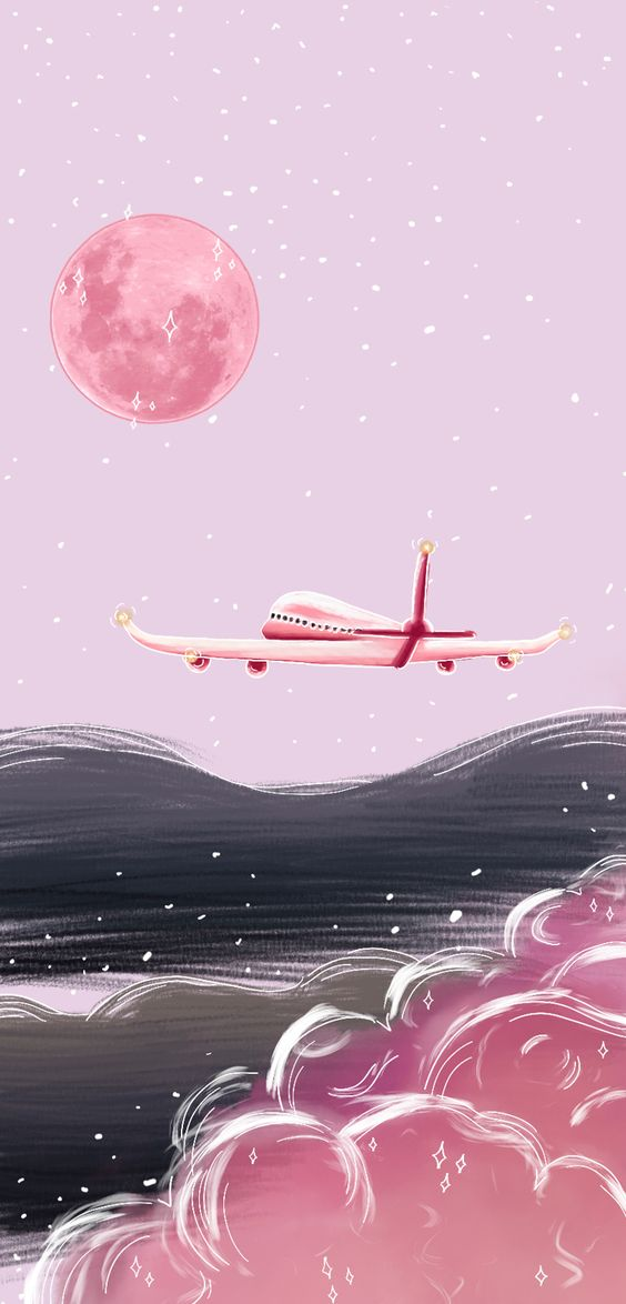 Wallpaper Pink Travel by Gocase, papel de parede, trip, travel, pink, rosa, viagem, avião, nuvens, céu, sky, #lovegocase #gocase #wallpaper #papeldeparede, #trip, #pink