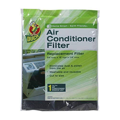 Duck Brand Replacement Air Conditioner Foam Filter 24 Inch X 15 Inch X 1 4 Inch Windowless Air Conditioner Air Conditioner Filters Air Conditioner Replacement