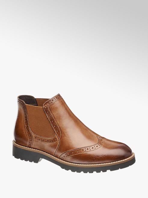 Damen Leder Chelsea Boots Von 5th Avenue In Braun Deichmann Com Stiefel Leder Damen