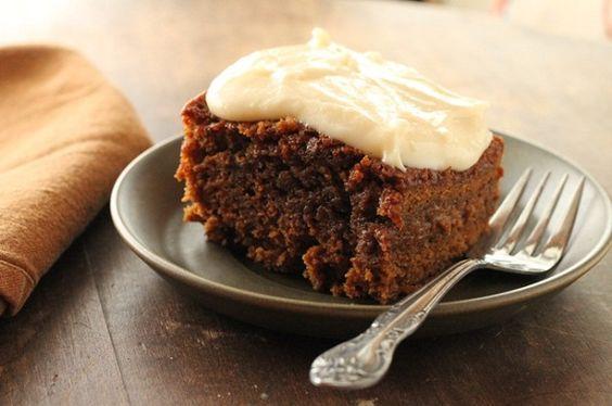 Guinness breakfast cake - sub honey for molasses, applesauce for butter, and oat flour for white flour
