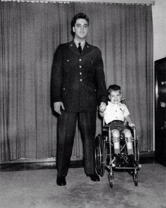 Elvis Jan 18, 1959 Frankfurt with Robert Stephen Marquette March of Dimes