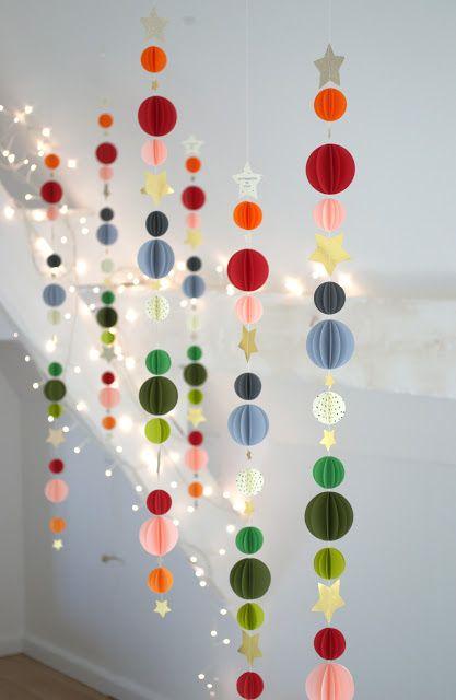 Guirlande sphères multicolores LES POMMETTES DU CHAT Shop : lespommettesduchat.bigcartel.com