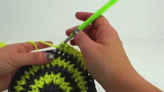 Häkeln Mütze Wintermütze Streifen Farbwechsel einfach 51-55cm grün.grau