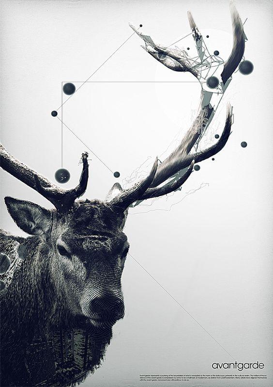 Moose #graphic #design #art: