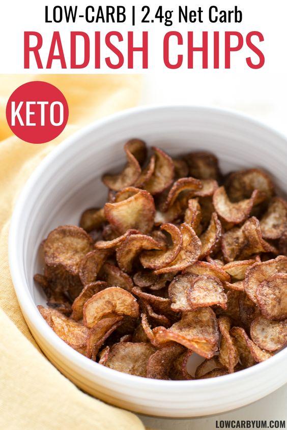Keto Radish Chips