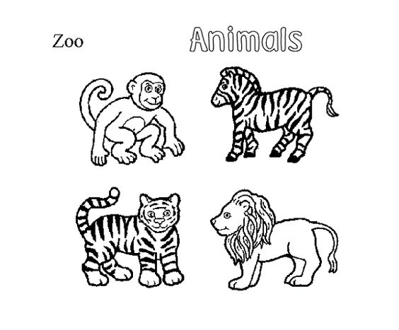 zoo animals coloring pages games  coloring kids  Pinterest