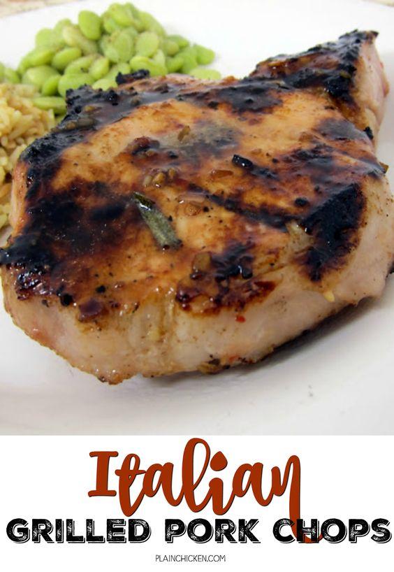 Grilled pork chops, Grilled pork and Pork chops on Pinterest