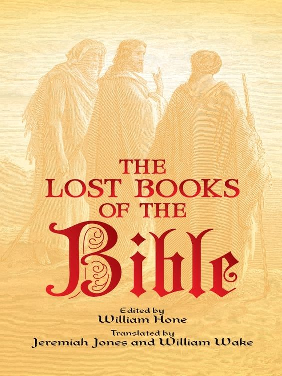 The Lost Books of the Bible by William Hone  Rediscovered in modern times, these 'non-canonical' gospels, epistles, and other pieces were excised from the standard Bible by various church councils in the first four centuries of the Christian era. Here, among other texts, are writings describing the girlhood and betrothal of Mary and her life before Christ's birth; the childhood of Jesus, as described by Peter and Nicodemus; and the appearance of Christ before the gates of Hell,...