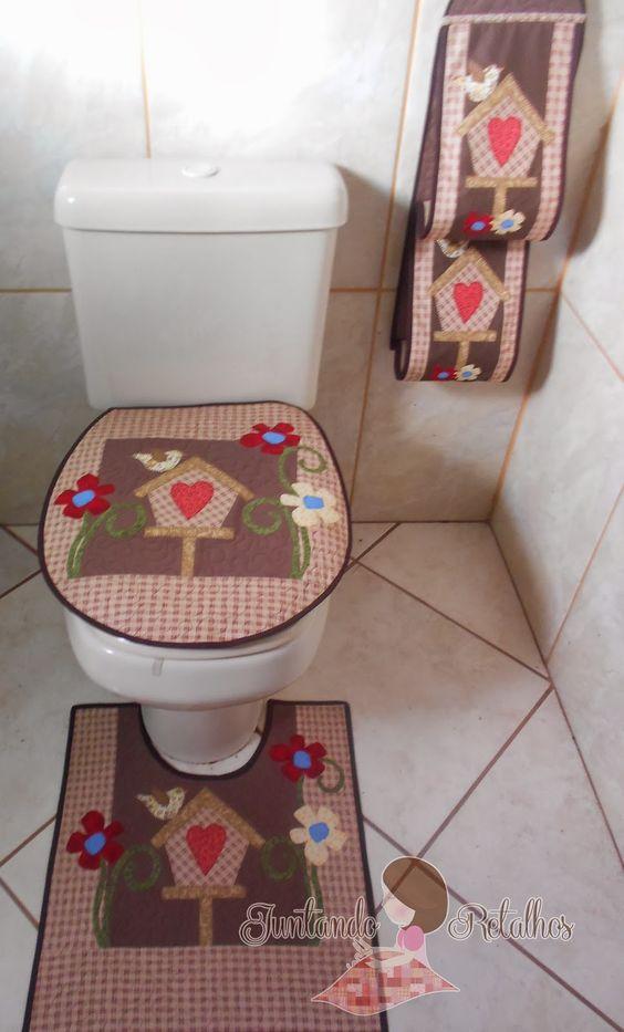 Kit Banheiro Molde : Juntando retalhos banheiro arte patch deco