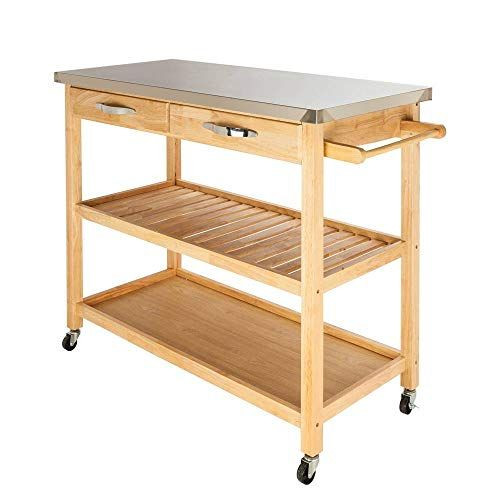 Binlin Kitchen Trolley Cart Modern Rolling Kitchen Trolley Cart Fch Movea Kitchen Furniture Storage Kitchen Storage Shelves Stainless Steel Table Top