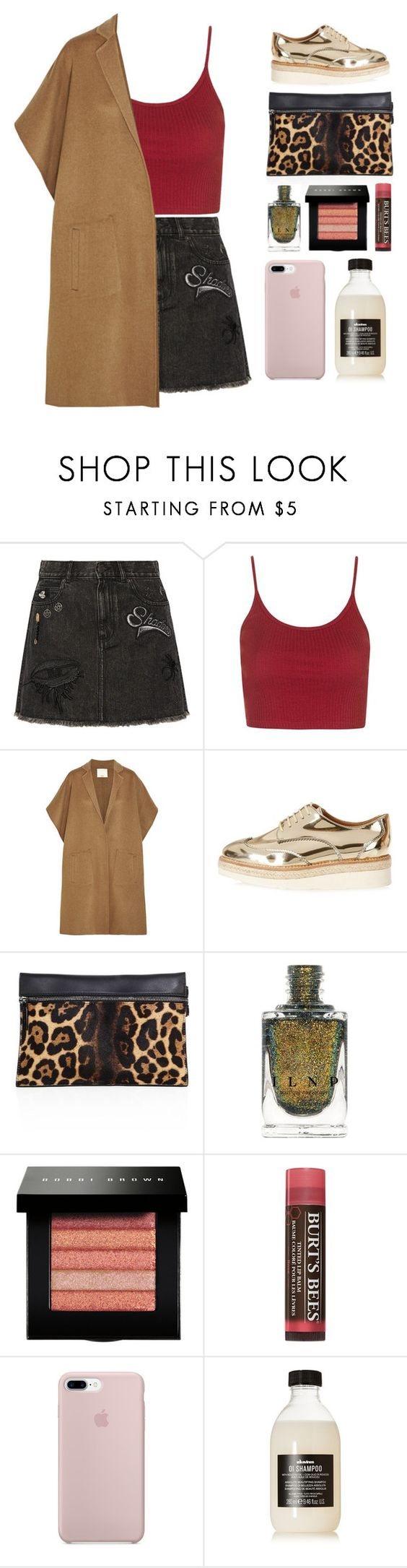 """""""5.009"""" by katrina-yeow ❤ liked on Polyvore featuring Marc Jacobs, Topshop, TIBI, River Island, Victoria Beckham, Bobbi Brown Cosmetics, Burt's Bees and Davines"""