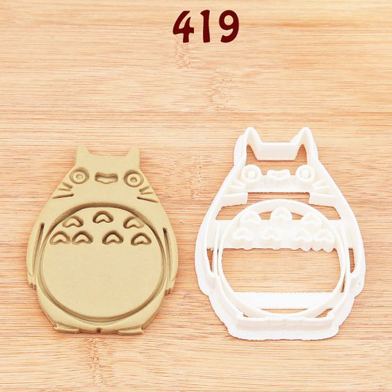 Totoro Cookie Cutter totoro party totoro by MKCookieCutter on Etsy