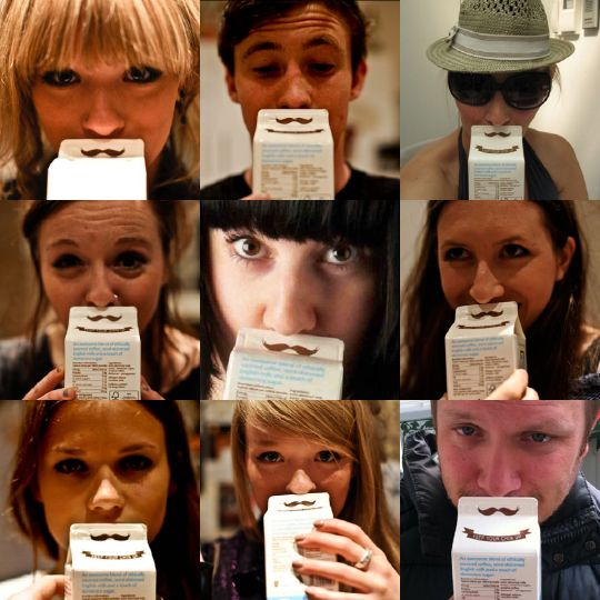 This Fun, Cheerful Coffee Carton Design Will Put A Mustache On Your Face - DesignTAXI.com