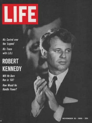 U.S. Senator Robert F. Kennedy on the cover of Life magazine, November 19, 1966, about the time he was engaged in helping establish the Bedford-Stuyvesant initiative. Life asks: 'Will He Dare Run in '68?'