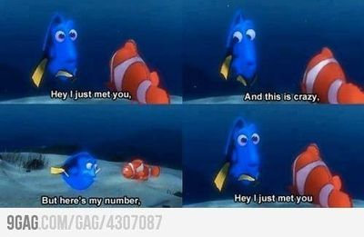 love Dori and Finding Nemo; at times I feel as though she is my Pixar doppleganger