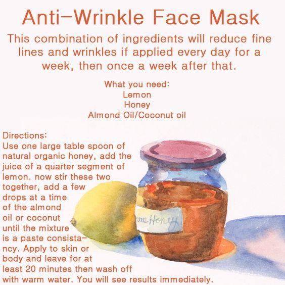 homemade anti-wrinkle mask