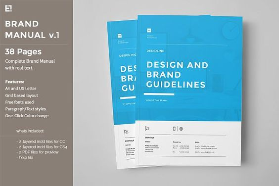 brand manual template Identity \ Branding Pinterest Brand - it manual template