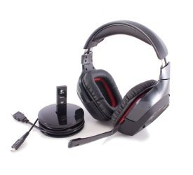 Logitech Wireless Gaming Headset G930 - One of the best wireless gaming headsets you can find, with high-quality audio output, smart design, and an impressive range. [4 out of 5 stars]