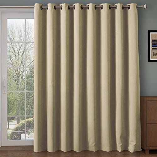 Amazing Offer On Rhf Wide Thermal Blackout Patio Door Curtain Panel Sliding Door Insulated Curtains Thermal Curtains Grommet Curtains Extra Wide Curtains Curtains Sliding Glass Door 100w 84l Inches Beige Online Insulated Curtains Patio Door