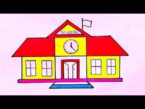 رسم مدرسة سهلة وبسيطة رسومات سهله وجميلة تعليم الرسم للمبتدئين خطوة بخطوة School Drawing Youtube In 2021 Birthday Cake Kids School Kids