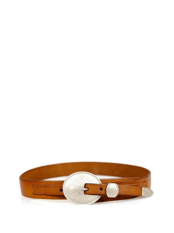 Casual Style Silver Buckle Woman Belt