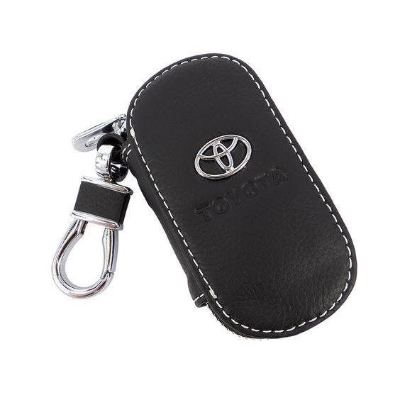 1 pcs Leahter Car Key Case Auto Key Holder Wallets key shell universal fit toyota corolla avensis rav4 yaris auris rav4 hilux