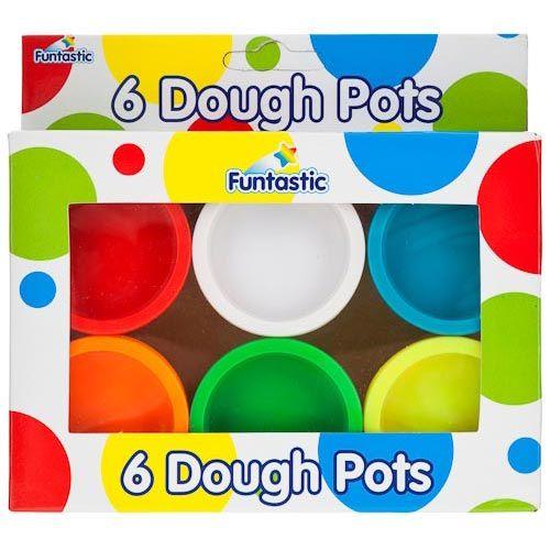 Funtastic Dough Pots - Pack Of 6 | Poundland