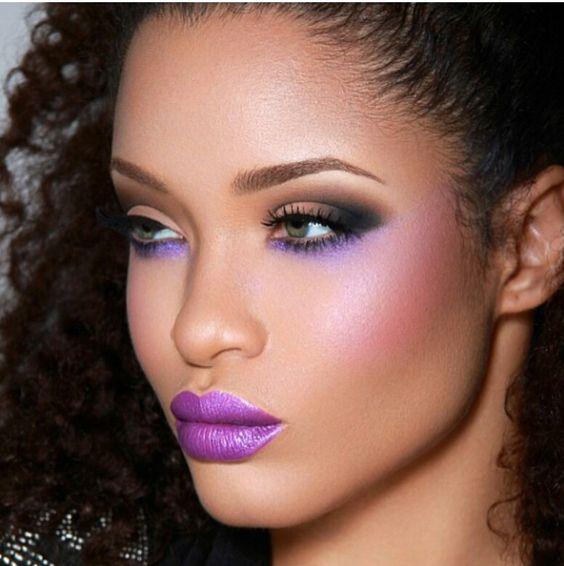 Essence of lilac  #maquiagem #lilas #roxa #pele #negra