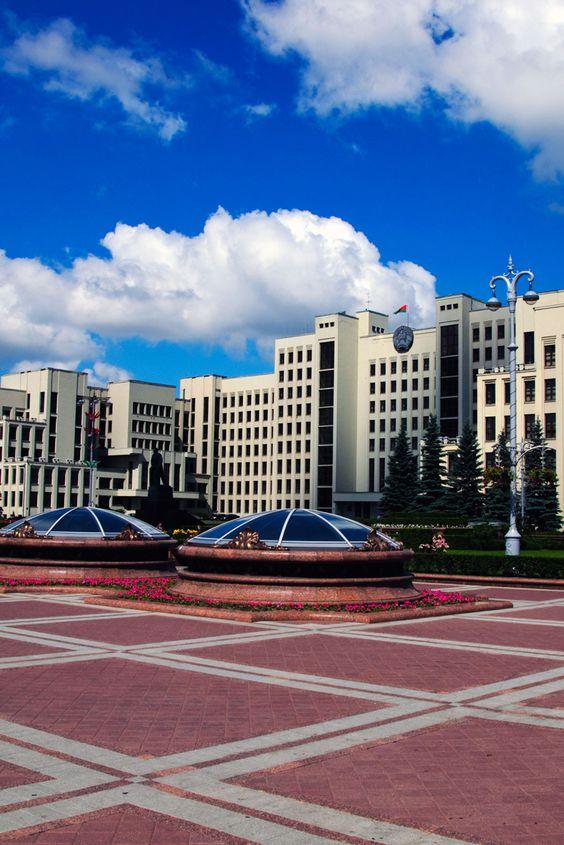 Independence square in Minsk #Travel #Belarus