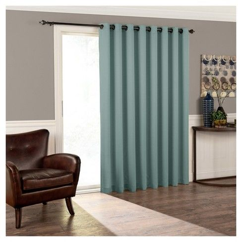 84 X100 Tricia Grommet Top Room Darkening Extra Wide Door Curtain Panel Eclipse Patio Door Curtains Patio Doors Panel Doors