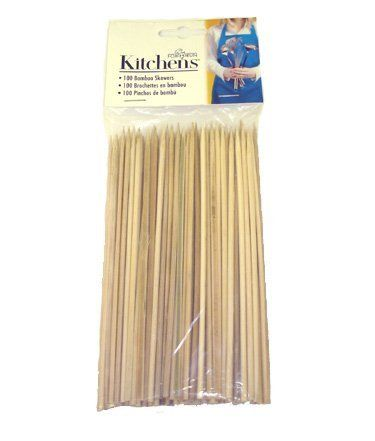 "Fox Run Brands Bamboo Skewers, 6-Inch by Fox Run Craftsmen. $3.00. Soak before grilling. Use with veggies and appetizers. Set of 100 bamboo skewers. 6 inches long. Great for seafood. Bamboo Skewers from Fox Run.  Set of 100 skewers.  6"" long.  Great for seafood and veggies.  Soak in water before using."