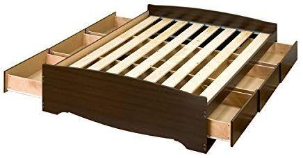 Amazon Com Espresso Full Mate S Platform Storage Bed With 6 Drawers Kitchen Dining Storage Bed Storage Bed Frame With Storage