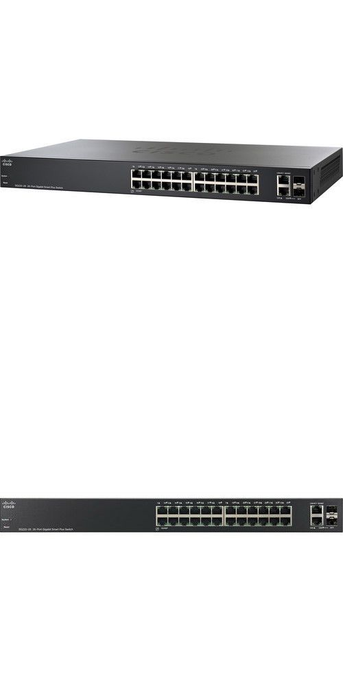 Switches And Hubs 182091 Cisco Smart Plus Switch With 24 Gigabit Ethernet Copper Ports Buy It Now Only 139 02 Cisco Systems Network Switch 24 Port Switch