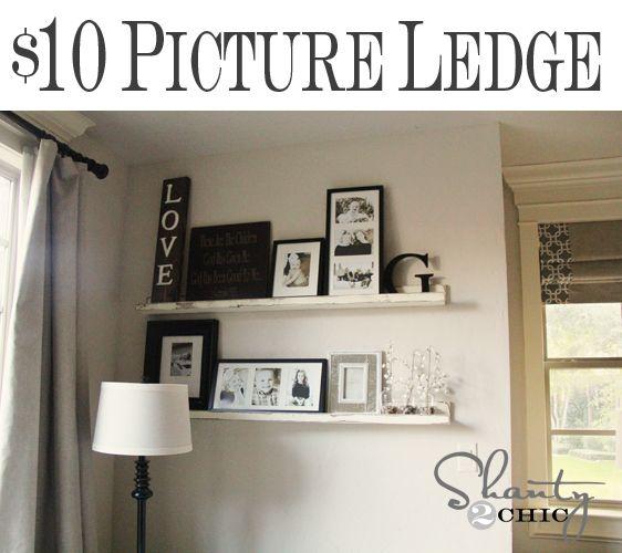 Easy DIY Picture Ledge