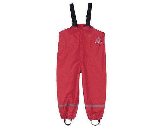 FRUGI Pantalon Imperméable à Bretelles - Rouge