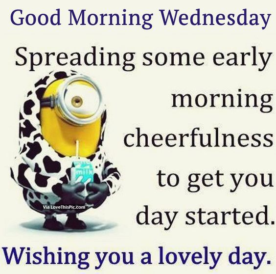 Good Morning Wednesday Images And Quotes : Good morning wednesday minion