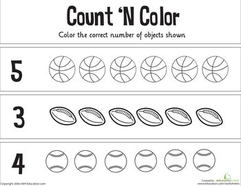 Count 'n Color: The Numbers 1-5 | Pinterest | Colors, Free ...