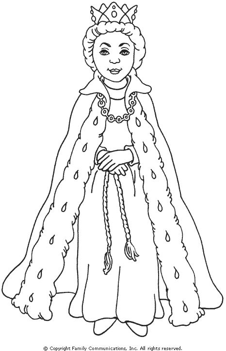 qeen coloring pages please - photo #10