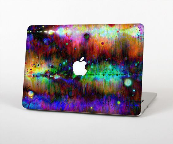 """The Neon Paint Mixtured Surface Skin Set for the Apple MacBook Pro 15"""" with Retina Display from Design Skinz"""