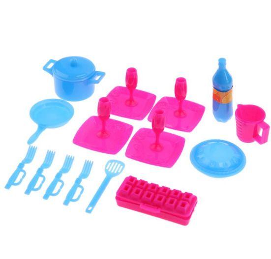 18pcs Mini Simulation Tableware Spoons Forks Kids Pretend Toy Kitchen Pots Pans Unbranded Toy Kitchen Kitchen Pot Pots And Pans