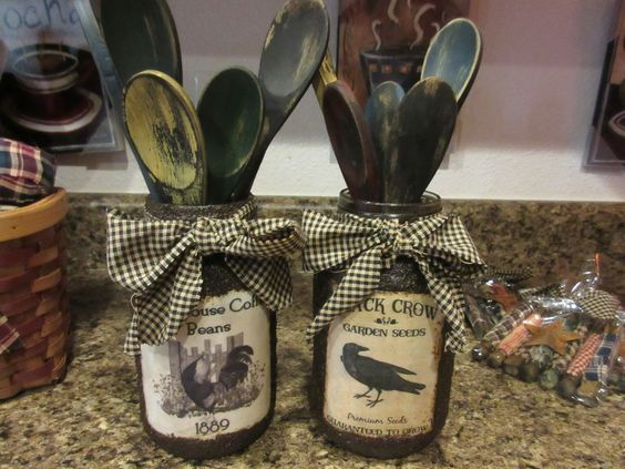 Country Primitive Jars..........