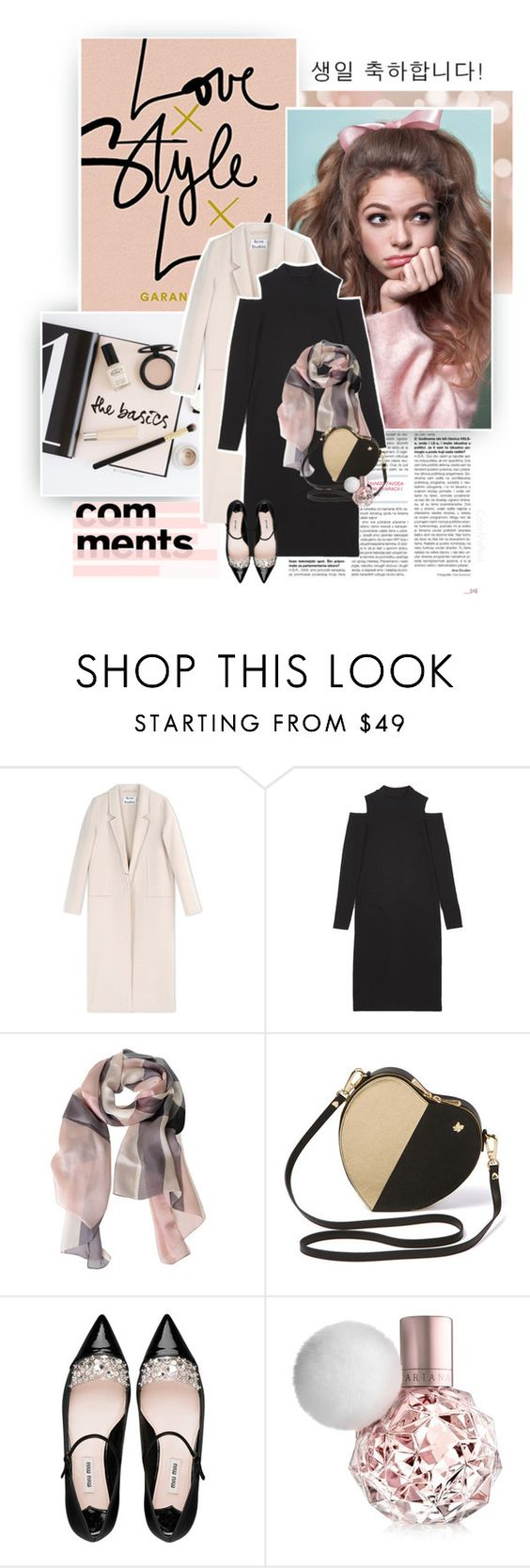 """""""Happy Birthday, Steph!"""" by color-me-red ❤ liked on Polyvore featuring Prada, Acne Studios, Burberry and Miu Miu"""