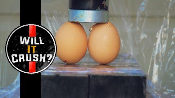 CRUSHING REAL EGGS | WILL IT CRUSH? | HYDRAULIC PRESS