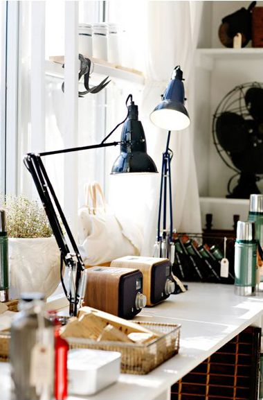 Nice place by the window. Great lamps!