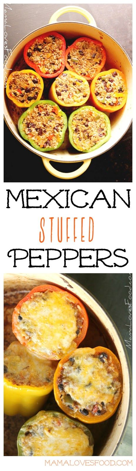 Stuffed Peppers {Mexican Style}- super flavorful, filling and healthy! @mamalovesfood