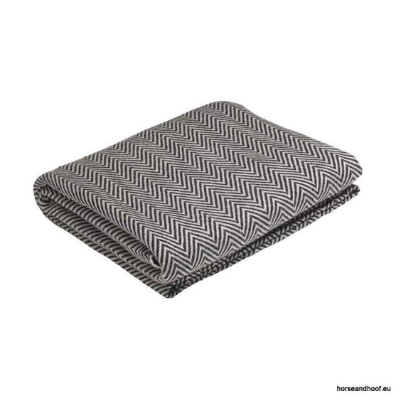 Pampeano Descanso Cashmere Throw - Black and White 130x250cm 100 cashmere The…