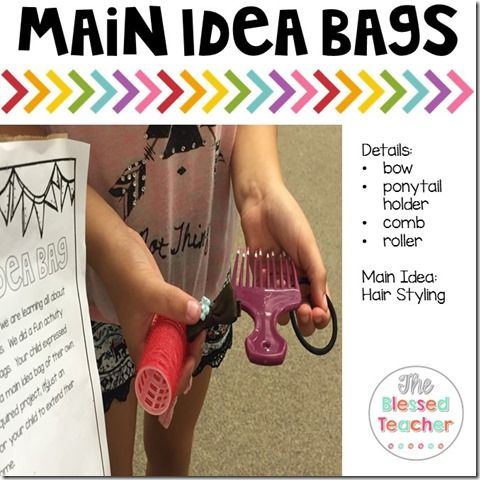 What' s The Main Idea? {FREEBIE} ...Main idea bags are such an awesome idea!