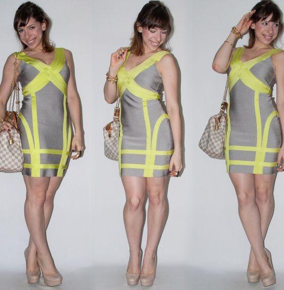 Como usar vestido bandage sem parecer periguete ou biscat - look do dia com scarpin nude e bolsa speedy Louis Vuitton - blog de moda e estilo