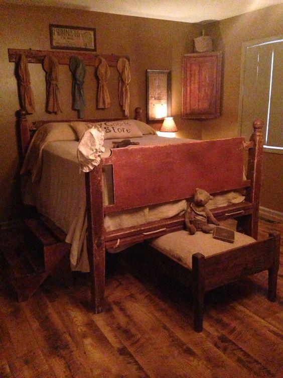 bedrooms primitive bedroom and primitives on pinterest