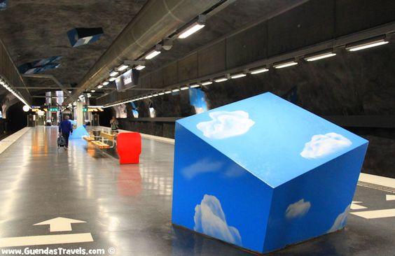 arte nella metropolitana di Stoccolma solna strand